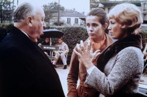 "Alfred Hitchcock, Claude Jade, Dany Robin ""Topaz"""