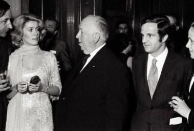Philippe Noiret, Catherine Deneuve, Alfred Hitchcock, François Truffaut, Claude Jade