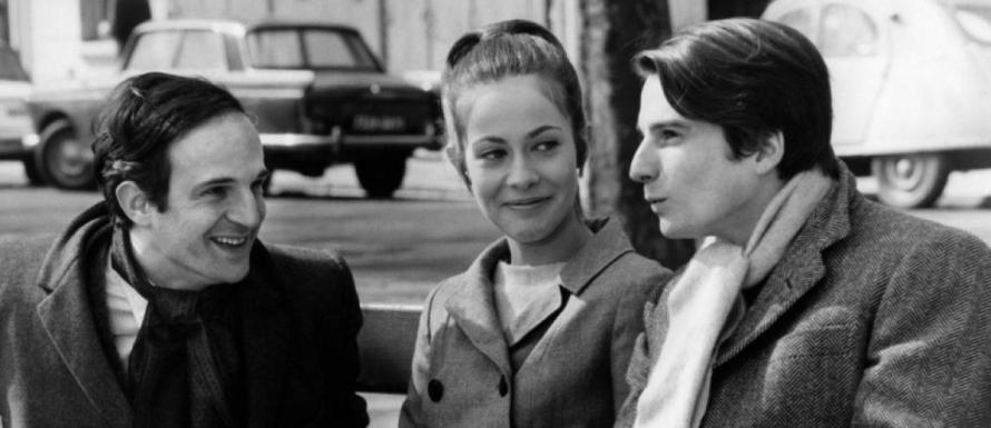 Verliebt in die Hauptdarstellerin: François Truffaut mit Claude Jade und seinem filmischen Double Jean-Pierre Léaud