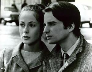 """Claude Jade et Jean-Pierre Léaud dans """"Baisers volés"""" (1968)"""