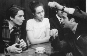 """Jean-Pierre Léaud, Claude Jade et François Truffaut """"Baisers volés"""""""