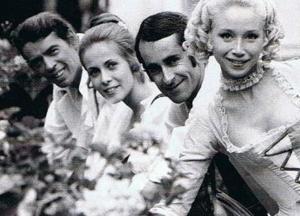 Jacques Brel, Claude Jade, Édouard Molinaro, Lyne Chardonnet