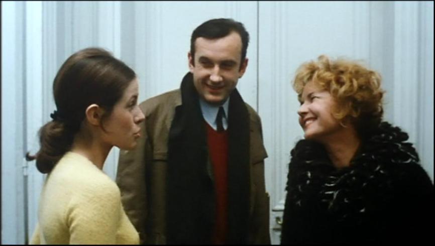"Claude Jade, Daniel Ceccaldi und Claire Duhamel in ""Baisers volés"""