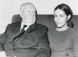 Claude Jade et Alfred Hitchcock