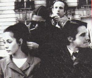 Claude Jade, François Truffaut et Jean-Pierre Léaud