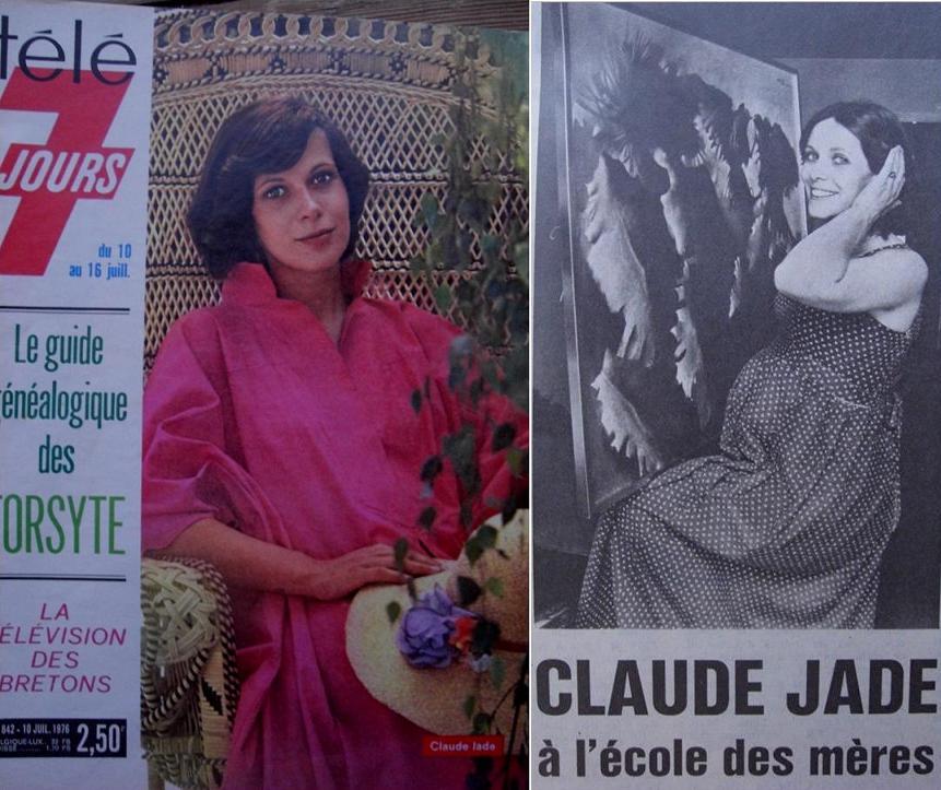 In Frankreich keine Zensur der Schwangerschaft: Claude Jade im Sommer 1976