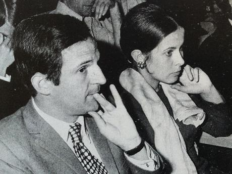 François Truffaut und Claude Jade in der Premiere am 4. September