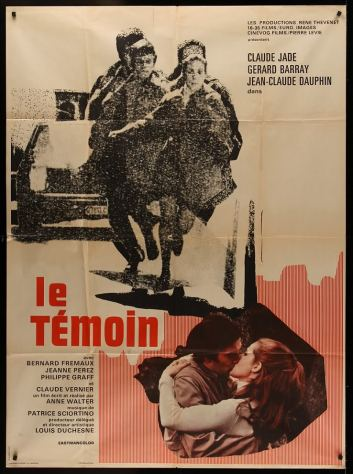 LE_TEMOIN_1969_Claude_JADE_Gerard_BARRAY_poster
