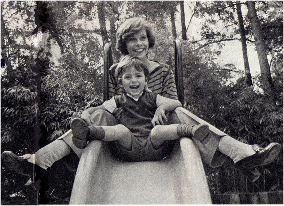 Claude Jade mit ihrem Sohn Pierre Coste