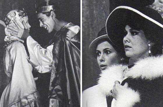 "Claude Jade, Sacha Pitoëff, Luce Garcia-Ville in ""Henri IV"""