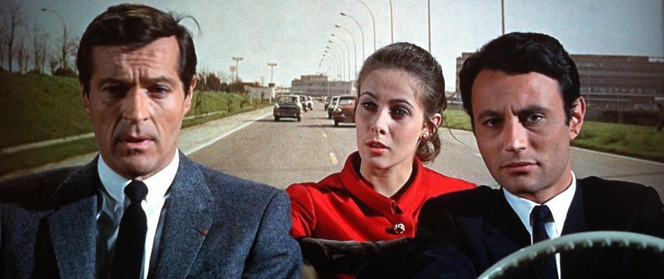 "Frederick Stafford, Claude Jade und Michel Subor in Alfred Hitchcocks ""Topas"""