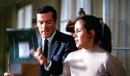 """Frederick Stafford und Claude Jade in """"Topas"""""""
