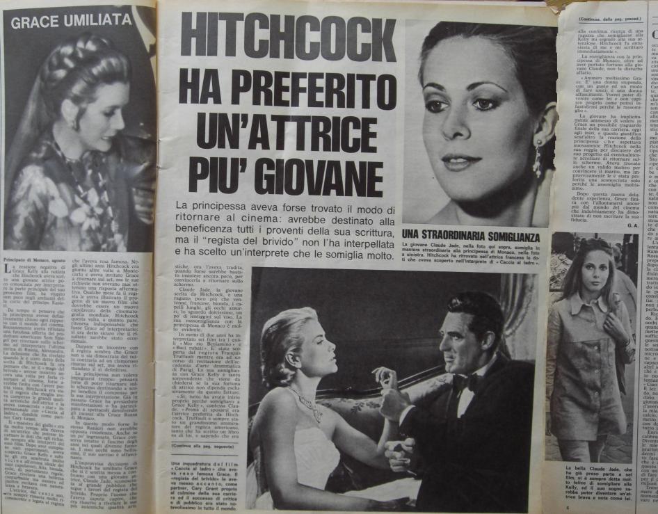 Ein Schundblatt erklärt Claude Jade als Grund für Grace Kellys Rücktritt vom Filmgeschäft. Auf anderen bunten Seiten zoffen sich Jackie Onassis und Maria Callas.