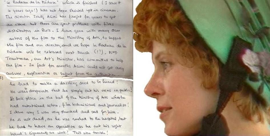 Auszug aus einem Brief Claude Jades vom 22. Januar 1998, in dem sie Bezug nimmt auf die Ereignisse vom 14. Dezember 1997 im Kulturministerium.