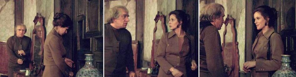 Merkwürdiges Kennenlernen: mit Charme (Claude Jade) gegen Pistole (Armen Dshigarchanian mit Browning Hi-Power)