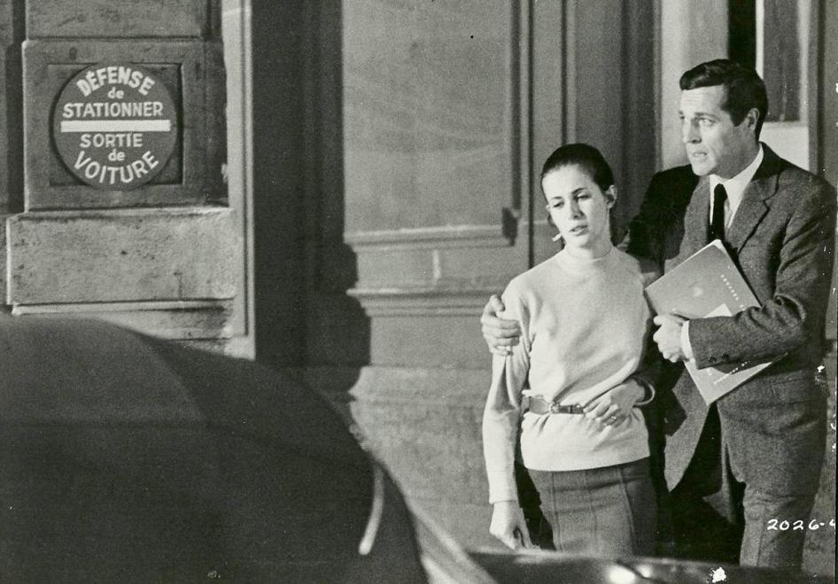 """Claude Jade und Frederick Stafford in Alfred Hitchcocks """"Topas"""""""