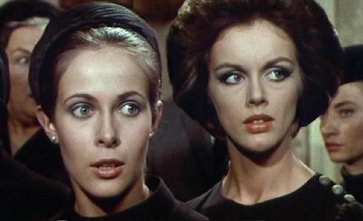 """Claude Jade und Anny Duperey in ihrem ersten gemeinsamen Film. 1975 folgt """"Le malin plaisir""""."""