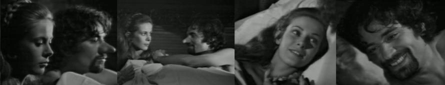 """Vier Jahre später: Claude Jade und Paul Barge als Liebespaar in der Machiavelli-Verfilmung """"La Mandragore"""""""