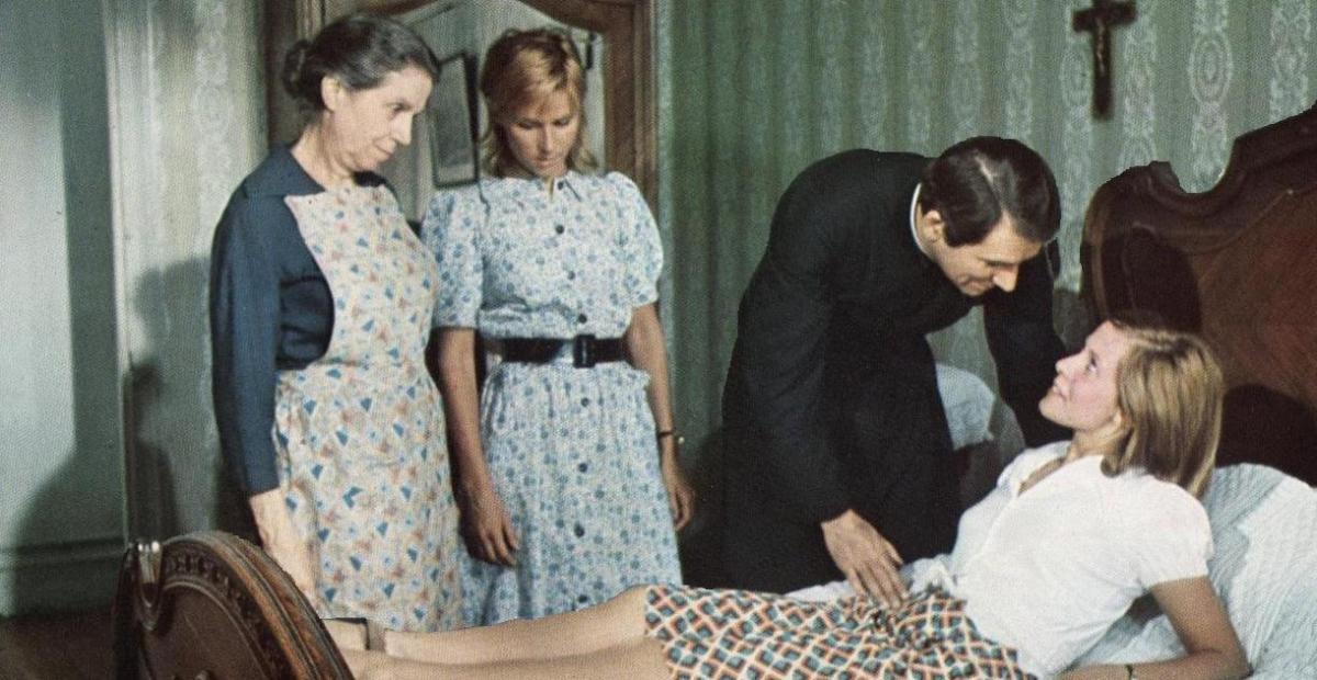 Germaine Delbat, Michèle Watrin, Robert Hossein und Claude Jade. Michèle Watrin war Hosseins damalige Geliebte. Sie starb kurz darauf bei einem Autounfall.