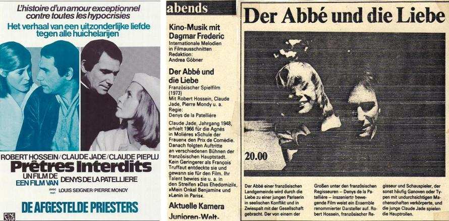 belgisches Filmplakat und Artikel in der FF Dabei zur deutschen Erstausstrahlung