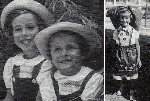 Annie und Claude Jorré; Claude bei einem Kinderfest in Pouldu