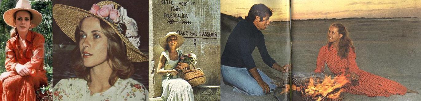 Mit Hüten reist Claude Jade um die Welt. Oben ohne: für den Sonnenuntergang am Strand ist sie mit Bernard Coste an ihrer Seite behütet genug.