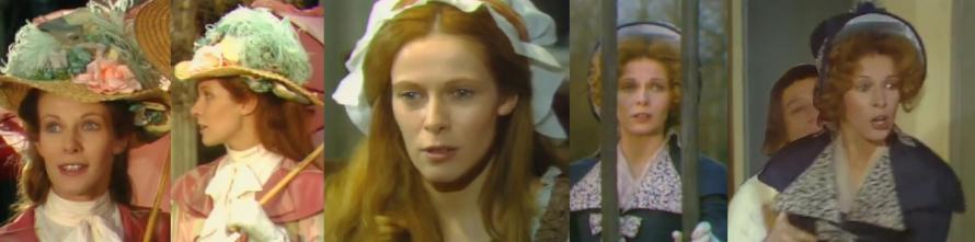 """Claude Jade als Lucile Desmoulins (1770-1794) in """"La passion de Camille et Lucile Desmoulins"""""""