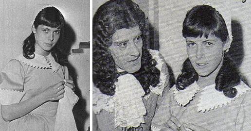 "Claude Jade als Agnès in Molières ""Die Schule der Frauen"" mit André Héraud"