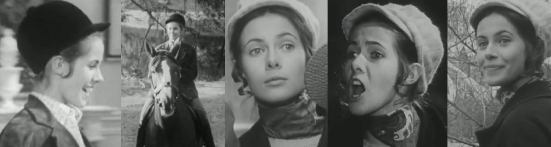 """Claude Jade als Sylvie in der TV-Serie """"Les oiseaux rares"""""""