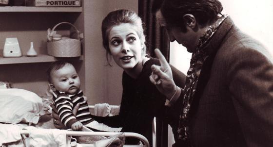 Claude Jade, François Truffaut und Emilie Barbault