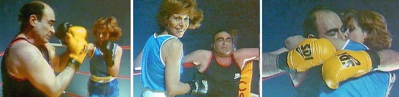 """Claude Jade et Philippe Khorsand dans """"Tableau d'honneur"""" de Charles Nemes, boxe, film, cinema, 1992"""