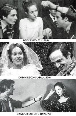 Baisers volés, Domicile conjugal, L'amour en fuite, Francois Truffaut, cycle Antoine Doinel, Claude Jade, Jean-Pierre Léaud