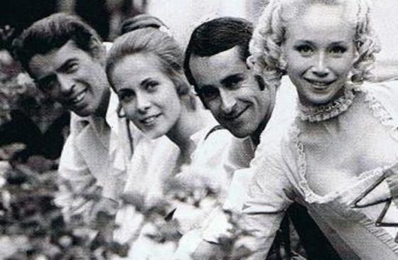 Jacques Brel, Claude Jade, Édouard Molinaro, Lyne Chardonnet, Mon oncle Benjamin