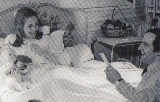 Claude Jade und François Truffaut in der Klinik Belvédère de Boulogne