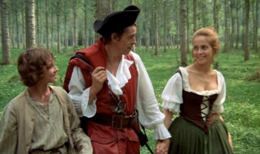 Dominique de Keuchel, Jacques Brel und Claude Jade im Wald von Rambouillet