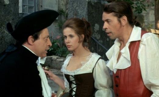 Paul Préboist avec Claude Jade et Jacques Brel dans