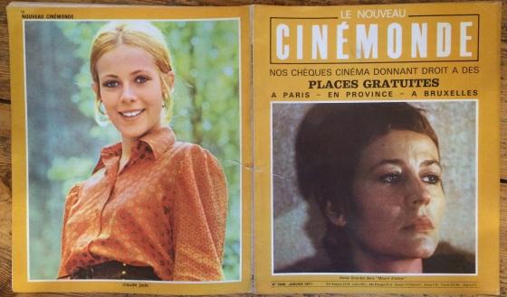 Cinemonde Cllaude Jade Annie Girardot Les feux de la chandeleur Mourir d'aimer