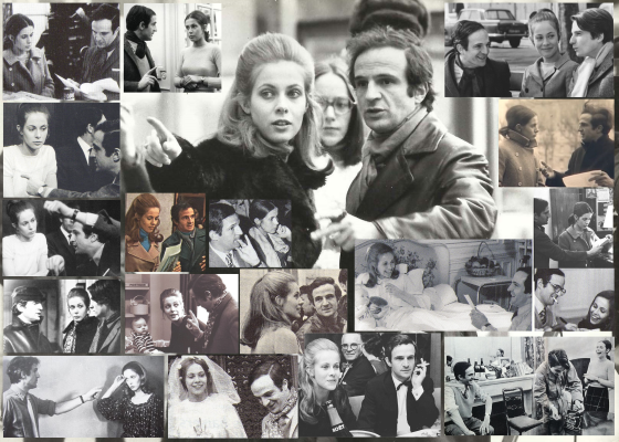 François Truffaut et Claude Jade Nouvelle Vague Baisers voles Domicile conjugal L'amour en fuite Jean-Pierre Leaud Antoine Doinel Christine Darbon