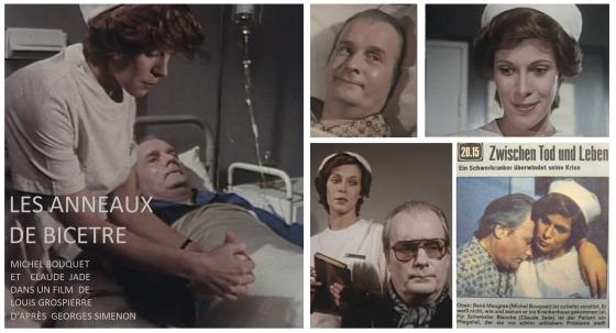 Michel Bouquet, acteur, comédien, Claude Jade, Les anneaux de Bicetre, Entre mort et vie, Zwischen Tod und Leben, Georges Simenon, Maugras, Blanche