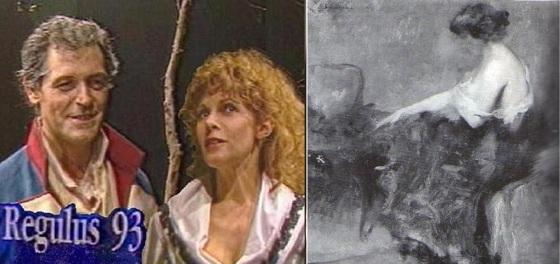 """1988 kann Claude Jade wegen der Aufführungen von """"Regulus 93"""" die Strasbourger Ausstellung nicht besuchen. Claude Jade, Bruno Pradal """"Regulus 93"""" nantes, piece de Catherine Decours"""