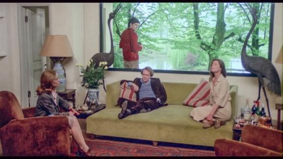 Claude Jade, Marc Porel, Roberto Posse und Carole Chauvet, spirale di nebbia, Spirale de brume, caresses bourgeoises, eriprando visconti