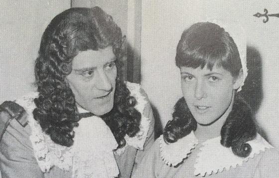 """André Héraud und Claude Jade 1964 in """"Die Schule der Frauen"""""""