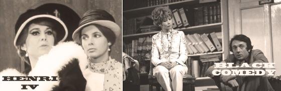 """Zwei Schülerinnen André Hérauds im Zentrum der Pariser Theatersaison 1967/68: Claude Jade mit Luce Garci-Ville in """"Henri IV"""", Marlène Jobert mit Jean-Pierre Cassel in """"Black Comedy"""""""