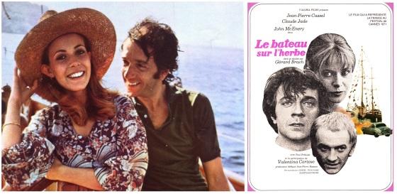 """Claude Jade und Jean-Pierre Cassel präsentieren """"Das Schiff auf der Wiese"""" in Brasilien."""