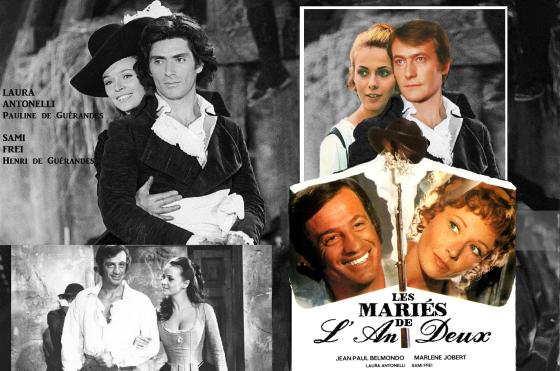 les mariés de l'an II Das Ex-Paar Claude Jade und Michel Duchaussoy (oben links) sollte ein inzestuöses Geschwisterpaar spielen.
