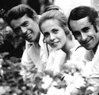 Jacques Brel, Claude Jade und Doudou Molinaro