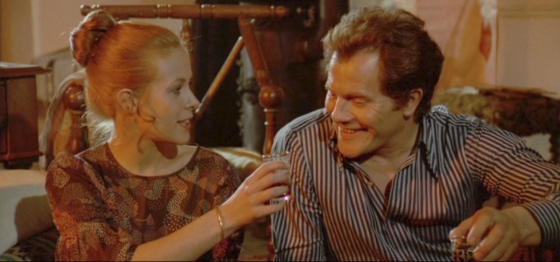 "Claude Jade und Bernard Fresson in ""les feux de la Chandeleur"" (Kerzenlicht)"