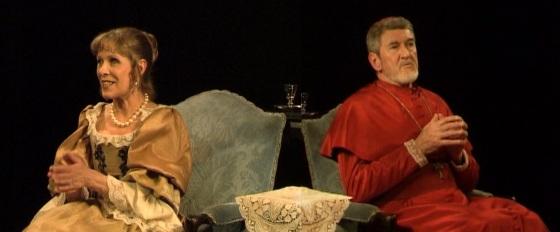 """Claude Jade und Patrick Préjean 2006 in """"Célimène et le cardinal"""", Piece Molière Jacques Rampal"""