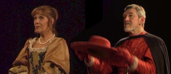 """Claude Jade und Patrick Préjean 2006 in """"Célimène et le cardinal"""""""