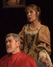 """Claude Jade und Patrick Préjean 2006 in """"Célimène et le cardinal"""", Piece Molière Jacques Rampal Le misanthrope"""